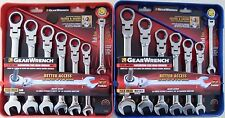 GearWrench 14pc SAE Metric Flex Head Ratcheting Combination Wrench Set