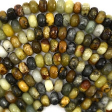 "Faceted Multicolor Jade Rondelle Beads Gemstone 15.5"" Strand 6mm 8mm 10mm"