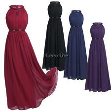Women Formal Prom Ball Gown Party Evening Cocktail Bridesmaid Chiffon Long Dress