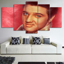 Framed Home Decor Canvas Print Painting Wall Art Elvis Presley Facial Expression