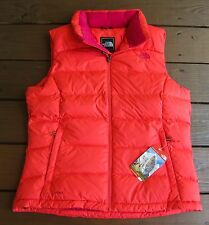 new The North Face NUPTSE 2 Women's 700 goose down VEST in RAMBUTAN PINK color
