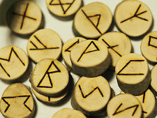 Beech Elder Futhark Runes - with Bag & Information sheet - Pagan, Wicca,  Norse