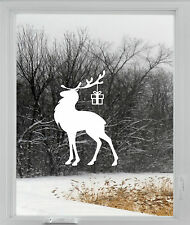 Christmas Reindeer Rudolph Wall Window Sticker Vinyl Decal Decoration  XMAS