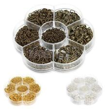 A Small Box of 1450 Assorted Jump Rings Open Connectors Jewelry Making 3mm-10mm