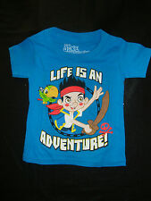DISNEY JAKE & THE NEVERLAND PIRATES  GRAPHIC TEE SHIRT NWTS LIFE IS AN ADVENTURE