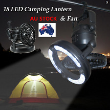 LED Camping Fan Lantern Hanging Headlamp Tent Hiking Outdoor Night Light Lamp