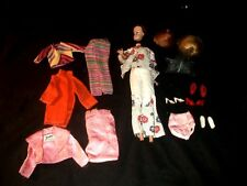 VINTAGE BARBIE DOLL MIDGE With CLOTHES WIGS SHOES & STAND 17 pc. LOT 1960's WoW