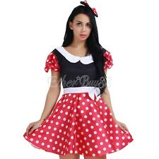 Halloween Party Women Minnie Mickey Mouse Polka Dot Fancy Dress Costume Outfits