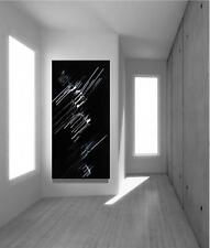 Large Original Modern Black White Fine Art Abstract Painting Tara Baden Signed
