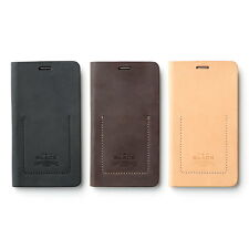 Zenus Black Tesoro Genuine Leather Diary Cover Case For Samsung Galaxy Note4