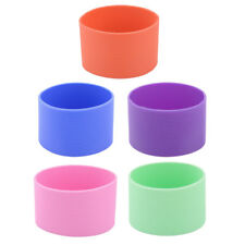 Outdoor Silicone Glass Tea Cup Heat Resistant Sleeve Protector Cover 2pcs