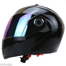 Full Face Motorcycle Helmet Dual Visor Street Bike with Colorful Shield New