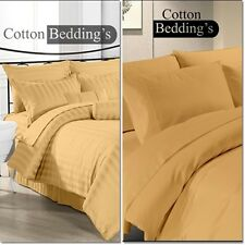OFFER 800-1000 TC 100% Egyptian Cotton US New Beige/Gold Color Fitted/Duvet/Flat