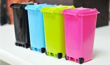 Mini Wheelie Bin Desk Tidy Office Desktop Stationery Organiser Pen Pencil EH