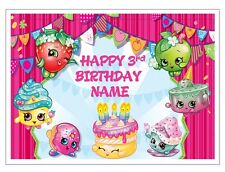 Shopkins personalised edible cake topper real icing or wafer paper A4 size