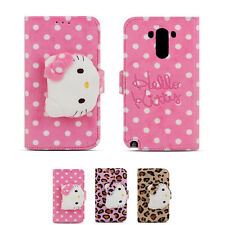 Hello Kitty Rag Doll Plush Button Card Protect Safe Wallet Cover Case For LG G4