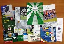 UEFA 2000 / 2001 - 2003 / 2004 MATCH PROGRAMMES UPDATED JUNE 2017