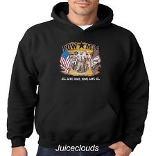 Patriotic Hoodie POW MIA All Gave Some American Soldier USA Flag Men's Pullover