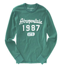 AEROPOSTALE MENS LONG SLEEVE T-SHIRT EMBROIDERED LOGOS A87 THERMAL WAFFLE 6450