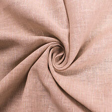 Solid Colored 55'' Linen Cotton Stripe Fabric by the Yard or Sample Swatch