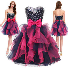 GK Organza Sequin Short Sexy Cocktail Prom Ball Gown Sweetheart Bridesmaid Dress