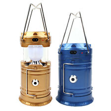 Collapsible Hand Lamp Solar Outdoor Rechargeable Camping Lantern Flashlights