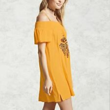 Short Sleeve Floral Embroidery Spaghetti Strap Mini Dress For Women