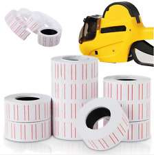 1~10Roll White Price Labels Stickers Paper for MX-5500 Price Tag Gun labelle Lot