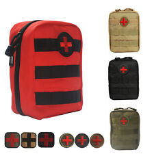 Tactical Hunting MOLLE EMT Pouch Outdoor First Aid Waist Pack Bag with Red Cross