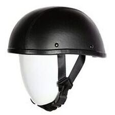 Leather Covered Eagle Style Novelty Motorcycle Helmet Nice Skid Lid