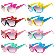 Anti-UV Sunglasses Kids Boys Baby Girls Cartoon 8 Color Goggle Glasses Bow  CN