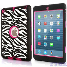 U.S Defender Hybrid Shockproof Heavy Rubber Case Cover For Apple iPad Air iPad 5