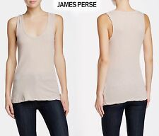 NWT $95 JAMES PERSE NARROW SCOOP NECK HEATHER ROSEWOOD TANK.SZs 0(XS),1(S), 2(M)
