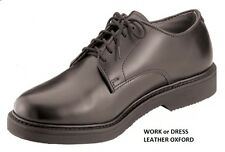 Leather Oxford Work Shoes Military Uniform EMT Police Firefighter Dress 5 to 15