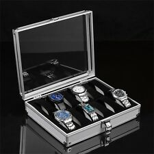 6/12 Grid Slots Watch Display Box Collection Jewelry Organizer Watch Case Tra GH