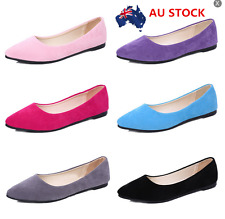 Women Casual Low Top Plain Loafers Ballet Flats Office Pumps Work Shoes AU 2-5.5