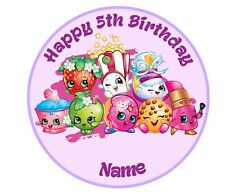 Shopkins Personalised Edible Real Icing or Wafer Paper Cake Topper 19cm PRE-CUT
