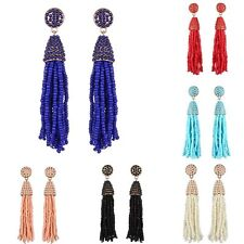 Fashion Women Charm Colorful Drop/Dangle Screw Back Tassel earrings Jewelry Gift