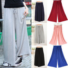 Casual Wide Leg Pants Women Lady Modal Pants High Waist Loose Long Trousers NEW
