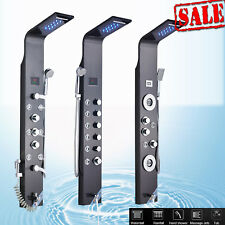 53'' Stainless Steel Rainfall Waterfall Shower Panel Tower Massage System Jets