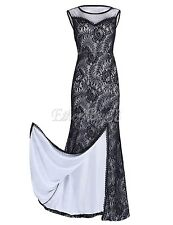 Womens Long Evening Party Ball Prom Gown Formal Ladies Cocktail Lace Maxi Dress
