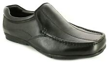 New Mens/Gents Black Slip Ons Genuine Sheep Leather Upper Casual Shoes UK SIZES