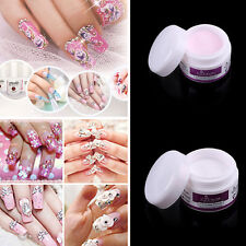 Acrylic Powder Nail Art Tips Manicure Crystal Polymer Builder Transp/Pink/White