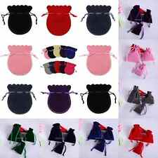 5 Size Small Velvet Drawstring Jewelry Bags Wedding Party Favor Gift Pouches