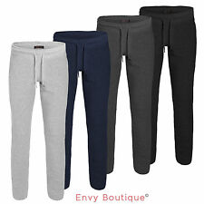 Mens Joggers Tracksuit Bottoms Trousers Gym Jogging Sweat Pants Zip Pockets