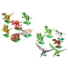6Sets Dinosaur Minifigures Assemble Building Blocks Collection Toys for Kids