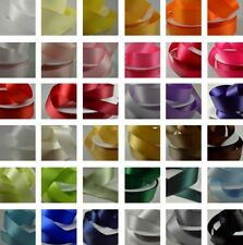 FULL REEL DOUBLE SIDED/FACED SATIN RIBBON Highest/Best Quality 25-50m - Crafts