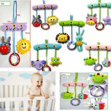 Newborn Baby Plush Stroller Bed Rattles Music Hanging Teether Handkerchief Toys