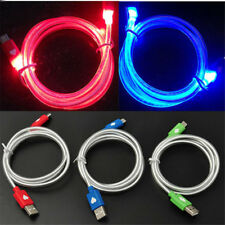 1M Glow LED Light USB Charger Data Sync Cable Line For iPhone 5S 6 6S 7 Plus Lot