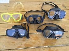 SCUBA, snorkeling, spearfishing diving USED fins,masks,snorkel,torch,belt,knife